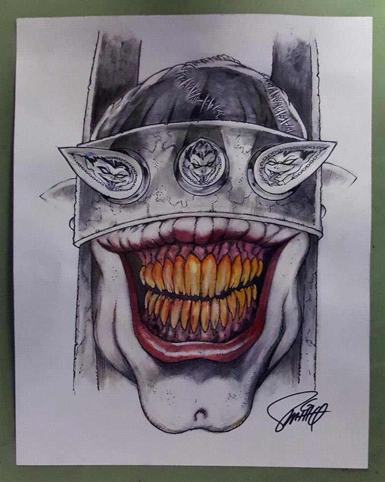 Drawing The Batman Who Laughs Art