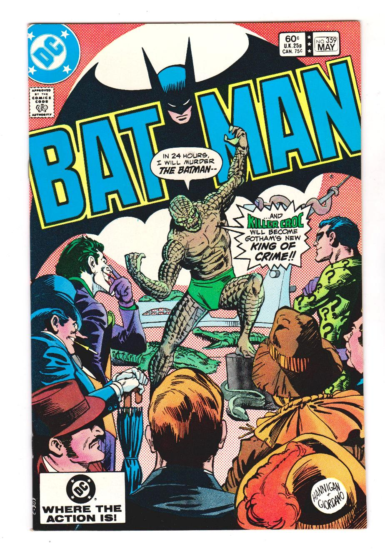 BATMAN 359 NM 1st FULL COVER KILLER CROCand ORIGIN SHIPS FREE