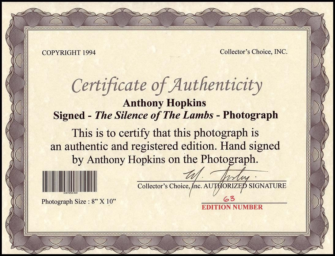 SHIPS FREE * ANTHONY HOPKINS-SILENCE OF THE LAMBS AUTOGRAPH 8X10 PHOTO REPRINT