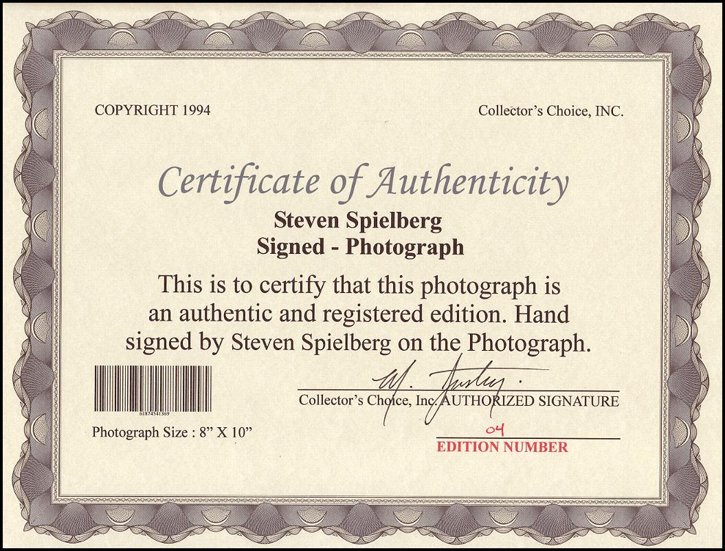 * FREE SHIPPING STEVEN SPIELBERG AUTOGRAPHED PHOTO  8X10  REPRINT
