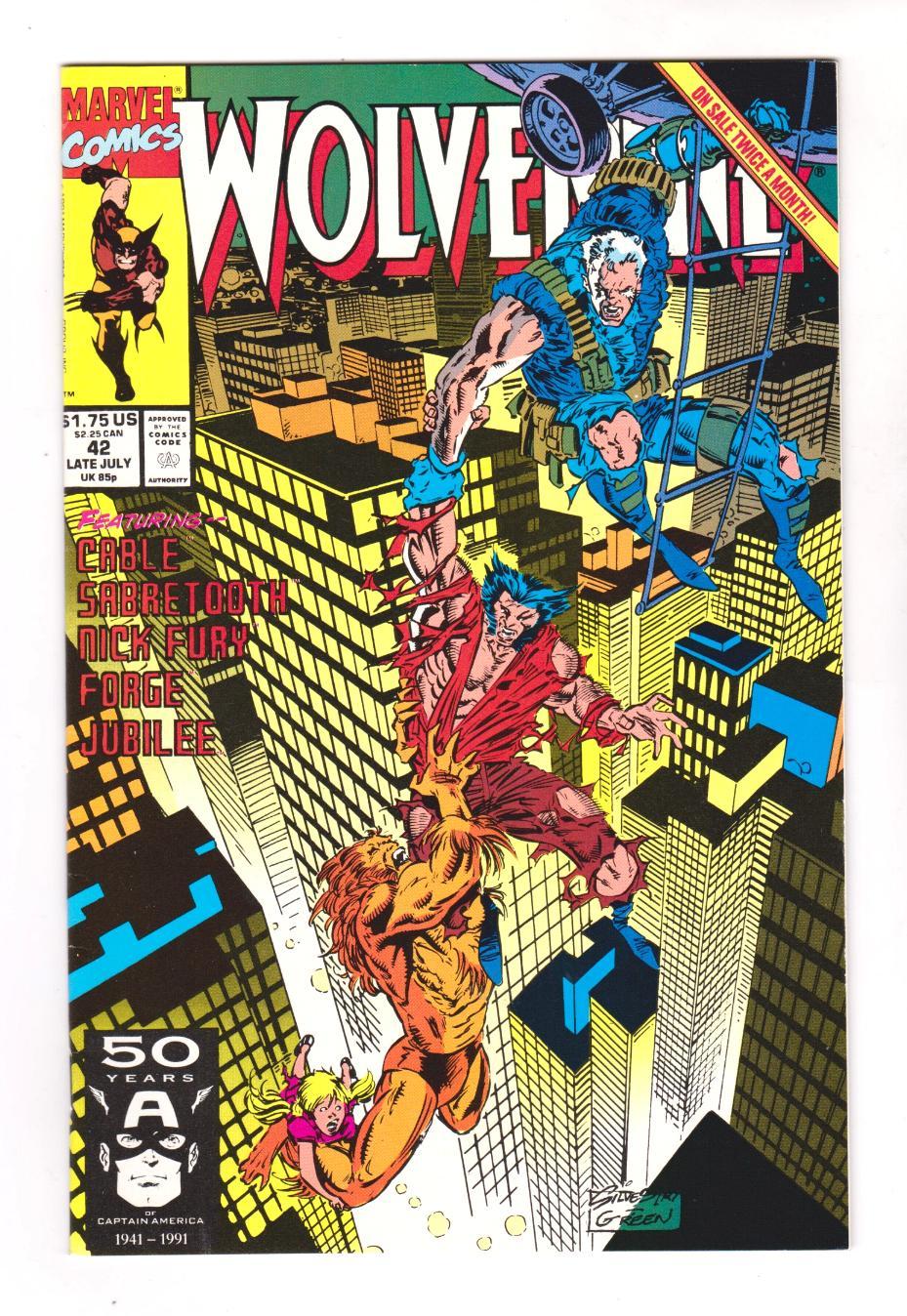 Wolverine # 42 Marvel Comics Late July 1991 Comic Book NM